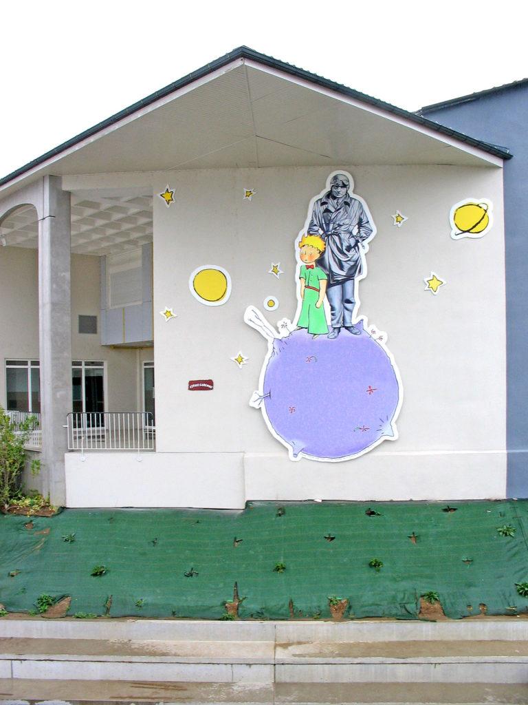 Peindre Une Fresque Sur Un Mur trompe l'œil et fresque extérieurs au pinceau, art