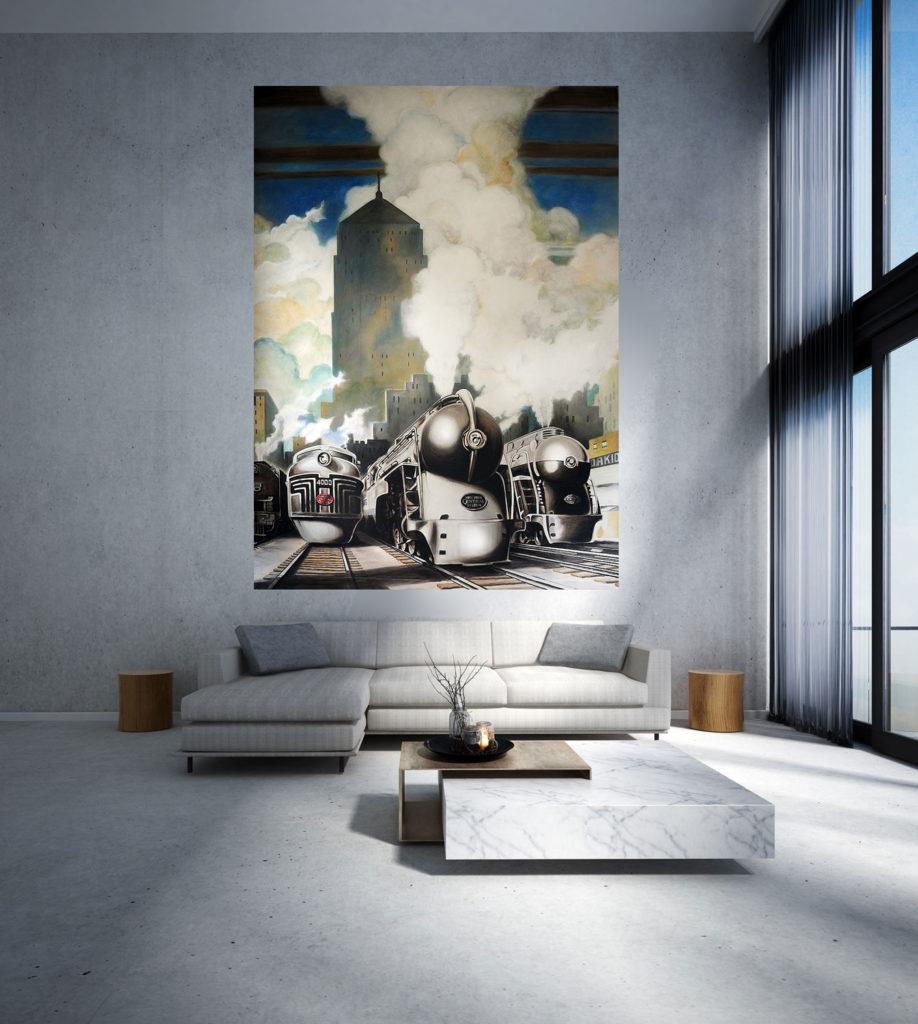 Décoration D Intérieur Peinture Murale peinture, fresque et trompe-l'œil au pinceau intérieur à